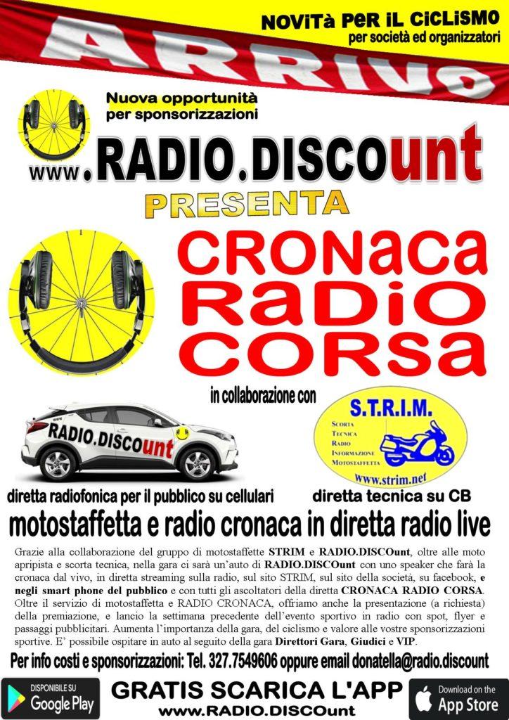 DIRETTA CRONACA RADIO CORSA CON RADIO DISCOunt e STRIM